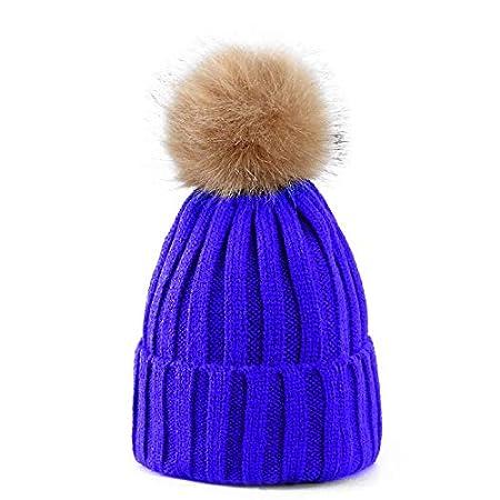 Women Ladies Winter Pom Pom Hat Cosy Beanie Warm Winter Cap Pom Pom Bobble  Hat (LIGHT BLUE)  Amazon.co.uk  Kitchen   Home 42d610378967