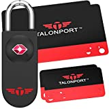 Keyless TSA Approved Luggage Lock with Lifetime Card Keys & No Combo to