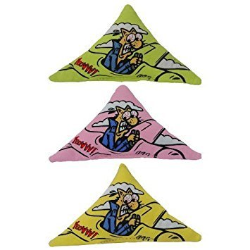 Purrr!-Muda Triangle Speciality Pack: Contains Yeowww! 100% Organic Catnip Purrr!-Muda Triangles (1 each pink, green, yellow)