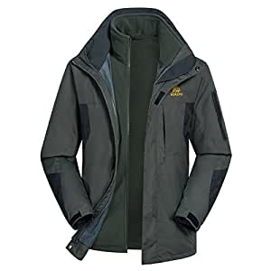 Wantmore Men's Journey Outdoor Windproof Lining And Hood Softshell Jacket Gray L