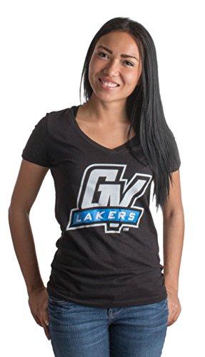 Grand Valley State University | GVSU Lakers Vintage Style Ladies' V-neck T-shirt