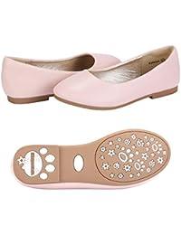 Girl's Katelyn Classic Slip On Ballerina Flat Dress Shoes (Toddler/Little Kid)