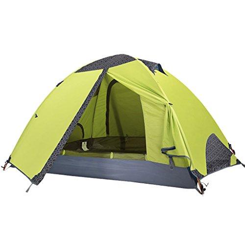 人類中世の福祉屋外テントキャンプ用具ダブルデッキ のテント (色 : Green)