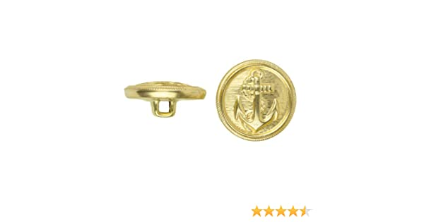 Antique Gold C/&C Metal Products 5018 Anchor Metal Button 144-Pack C/&C Metal Products Corp Size 20 Ligne