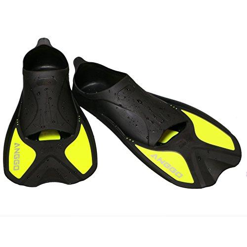 ANGGO Adult Dive Fin for Swim (Yellow, Large)