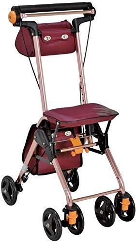 Andador plegable Walker Movilidad carrito de compras con el bolso ...