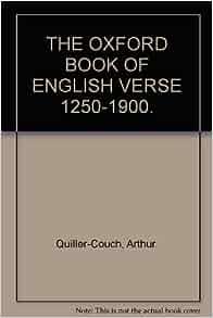 Oxford book of english verse
