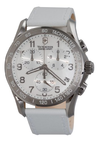 White Mother Of Pearl Chronograph - Victorinox Swiss Army Women's 241256 Classic Chronograph Mother-of-Pearl Dial Watch