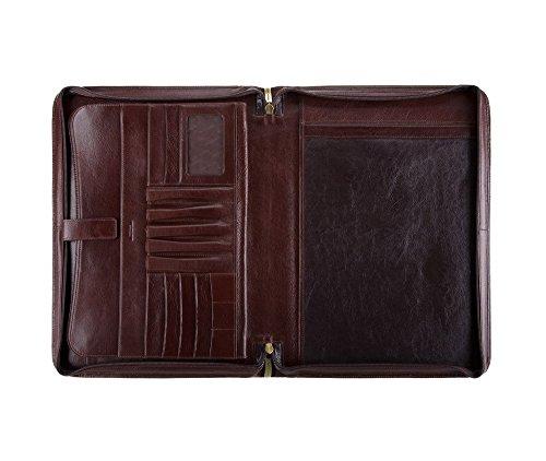cm WITTCHEN 4 5 Braun 21 36x26 Italy Handmade Aktentasche 008 Kollektion Narbenleder qrrAEw1