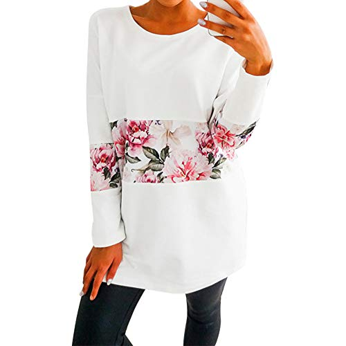 Femme Blouse Manches Shirt Nues NINGSANJIN Floral Épaules Longue Courte Tee Slim imprimé Femme Tops Tops Blanc Manche Chemise Casual Mode T Court Shirt Hqxx0vF