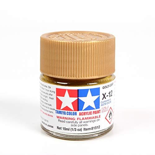 Tamiya Acrylic Mini X-12 Gold Leaf 10Ml Bottle