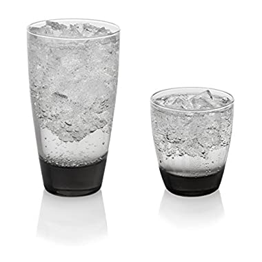 Libbey Classic Smoke Cooler and Rocks Glasses, Set of 16 (Frustration Free Packaging)