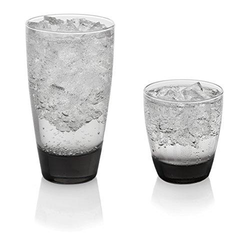 Libbey Classic 16-Piece Glassware Set Smoke Frustration-Free