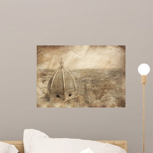 Piazza Del Duomo with Wall Mural by Wallmonkeys Peel and Stick Graphic (18 in W x 13 in H) WM17541