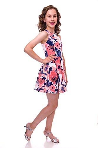 Bat Mitzvah Dress - Un Deux Trois Girls Fancy Floral Party Dress for Tweens in Long Length Size 12