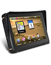 skrskr 2-in-1 Motorcycle/Car Navigation Waterproof GPS Navigation for Car, Vehicle GPS, Motorcycle Satellite Navigation System with Mount Kit, Voice Turn Direction Reminder, Truck GPS Route, North America