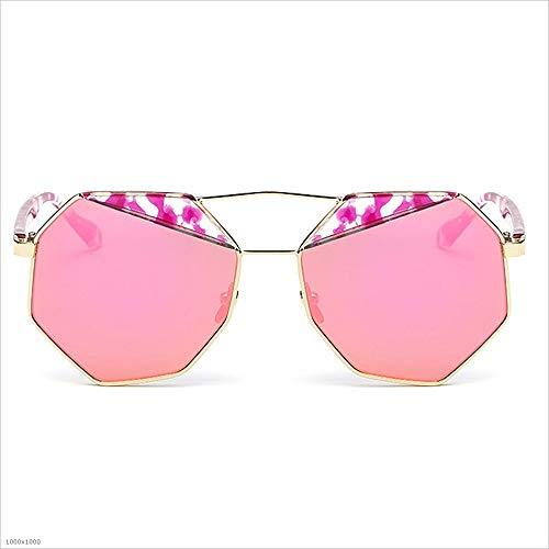 Classique soleil soleil de lunettes Violet UV lunettes Femmes Lady les protection Vintage Miroir de lunettes conduite de personnalité soleil disponi cerclées Polygon pour Soleil femmes pour De Lunettes la de RRBqwSZI