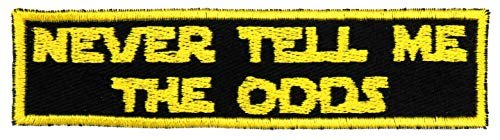 Never Tell Me The Odds Patch Iron On Applique - Yellow, Black - 4