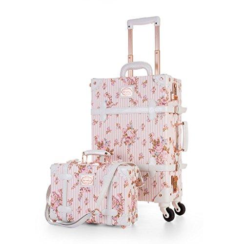 vintage luggage with wheels - 4