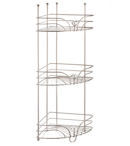 AMG and Enchante Accessories Free Standing Bathroom Spa Tower Floor Caddy, FC231-A SNI, Satin Nickel by AMG (Image #7)