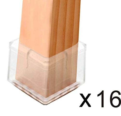 Wish you have a nice day Chair Leg Feet Wood Floor Protectors Set, Felt Furniture Pads Caps Covers, Square 1-1/8 inch to 1-3/8 inch, 16 Pack (16, 3 to 3.5cm) by wish you have a nice day (Image #5)