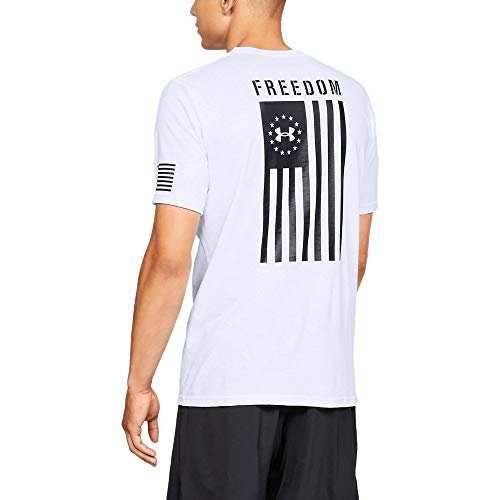 Patriotic Tee Shirts (Under Armour Freedom Flag T-Shirt, White//Black,)