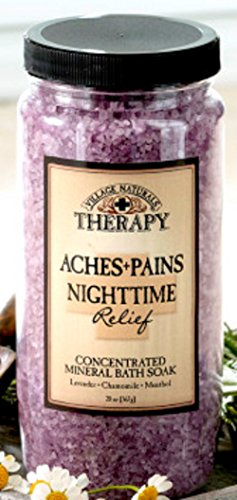 Village Naturals Aches and Pains Nighttime Relief Mineral Bath Soak 20 Ounce