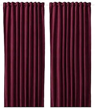 Ikea Sanela 304.140.27 - Cortinas (1 par, 55 x 98), Color Rojo ...