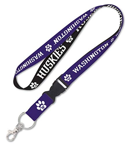 NCAA Washington Huskies Lanyard with Detachable Buckle, 1-Inch