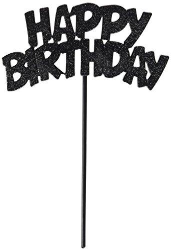 Flashing Silver Happy Birthday Decorative Pick -