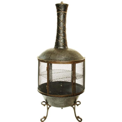 (Oakland Living Tower Feast Chimenea, Antique Pewter )