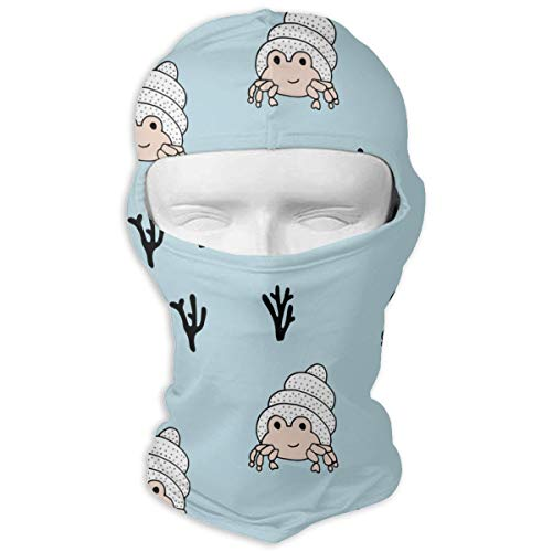 Windproof Balaclava Hood, Coral Reef Lobster Crab Porch for Hiking -