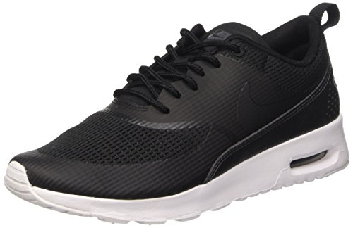 (Nike Womens air max thea TXT Trainers 819639 Sneakers Shoes (US 8, Black Black 004))