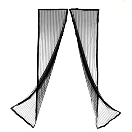 Topit 210100cm Magnetic Mosquito Curtains Anti Insect Screen Door Curtain Magic Mesh Hands