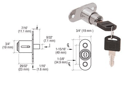 CRL Nickel Plated Track Plunger Lock