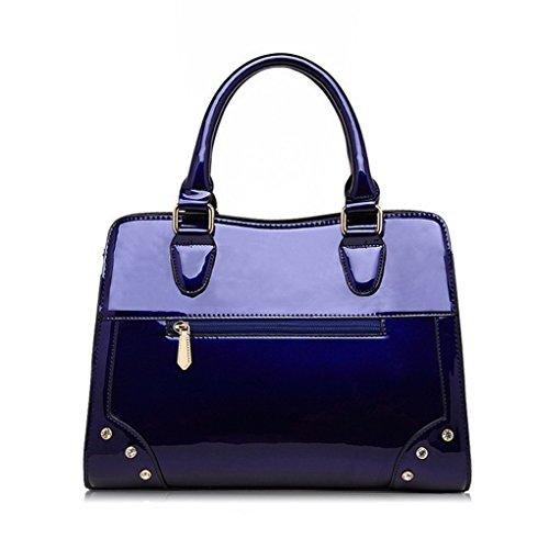 Women's y de AllhqFashion Bolsas Embragues de Fiesta Bolsos Hombro Azul Noche Bordado awwFH