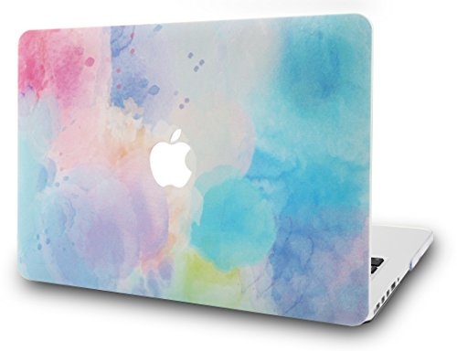 KEC MacBook Pro 15 Inch Case (2017 & 2016 Touch Bar) Plastic Hard Shell Cover A1707 (Rainbow Mist 2)