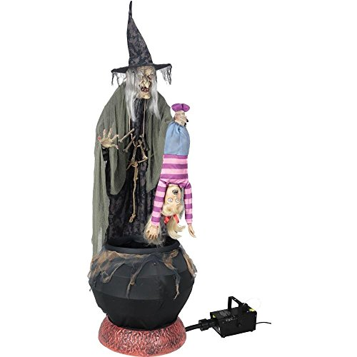 Stew Brew Witch and Child Animated Halloween Decoration (Halloween Witches Stew)