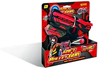 Villa Giocattoli Set Soft Bullet Gun Colore Nero e Rosso