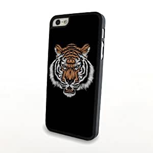 Luxury Painting Vivid Tiger Portait for iPhone 5/5s Plastic Case Matte Cover Hard Shell Carrying Protector Black Slim Light - Can Customize as You Want