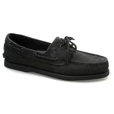 d349b7806466 Mens Timberland 2 Eye Classic Black Nubuck Boat Shoes - Rare Colourway UK  9.5