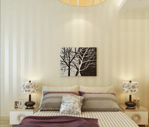 QIHANG European Modern Minimalist Country Luxury Stripe Wallpaper Roll for Living Room Bedroom Tv Backdrop Wall Beige Color by QIHANG (Image #2)