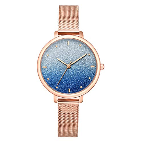 HunYUN Fashion Simple Ladies Watch Color Cool Frosted Dial Ladie Quartz Mesh Belt Watch in Colors That Match Your Scrubs