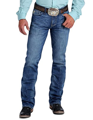 Cinch Men's Ian Slim Fit Jean, Medium Blue Stonewash, 36 x34 (Cinch Mens)