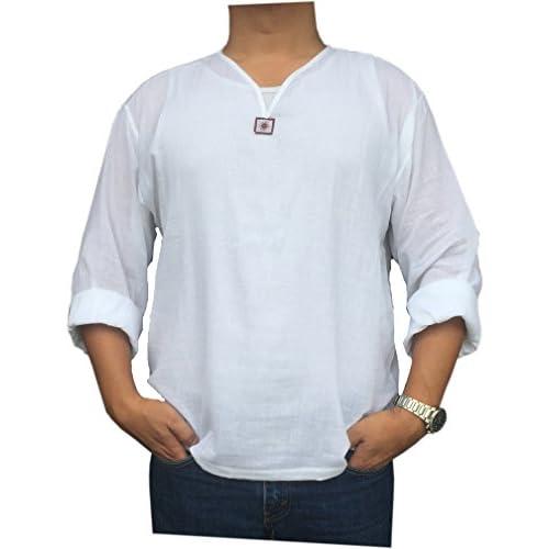 Casual Hippie Renaissance PJ White Yoga Shirt For Kid Short Sleeves V Neck