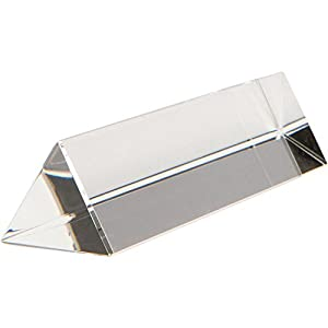 """Monterey Crystal 6"""" Optical Glass Triangular Prism 150 mm For Teaching Light Spectrum Physics or Photography"""