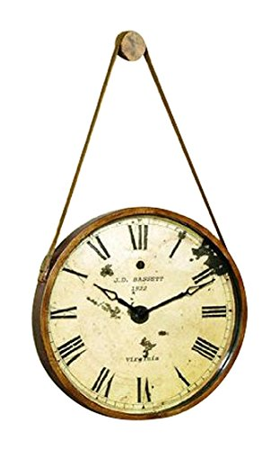 (Bassett Mirror Watchman Clock, Burnished Gold )
