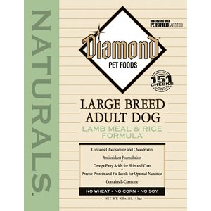 Diamond Naturals Dry Food for Adult Dogs, Large Breed 60+ Lamb and Rice Formula, 40 Pound Bag, My Pet Supplies