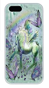 iPhone 6 4.7 Case,Unicorn Butterflies Polycarbonate Hard Case Back Cover for iPhone 6 4.7 White