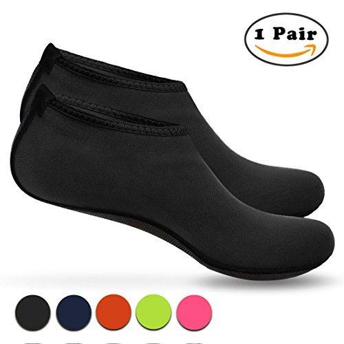 Nlife Barefoot Water Shoes Aqua Socks for Beach Surf Pool Swim Yoga Aerobics (Men & Women, M -XXXL)